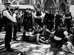 Cordon Blue (Feldore) Tags: london climate protesters police extinction rebellion england parliament feldore mchugh em1 olympus cordoned cordon protestors westminster street candid