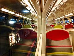 Virtual passengers (freephysique) Tags: rer c train transport passagers passengers virtuels virtual reflets urbain communs urban