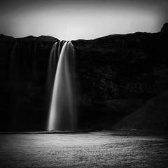 Seljalandsfoss (frodi brinks photography) Tags: seljalandsfoss iceland frodibrinks blackandwhite black white waterfall