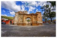 Fachada Frontal San Sebastián (tuantigua) Tags: arcos arte agua arquitectura patrimonio plaza parque españa foto fotografía fuente velasco iglesia diseño laantigua guatemala santiagodeloscaballeros