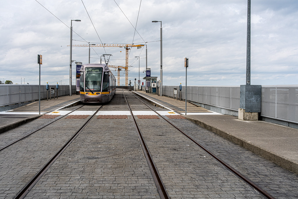 LUAS TRAM STOP AT BRIDE'S GLEN [GREEN LINE TERMINUS]-152322