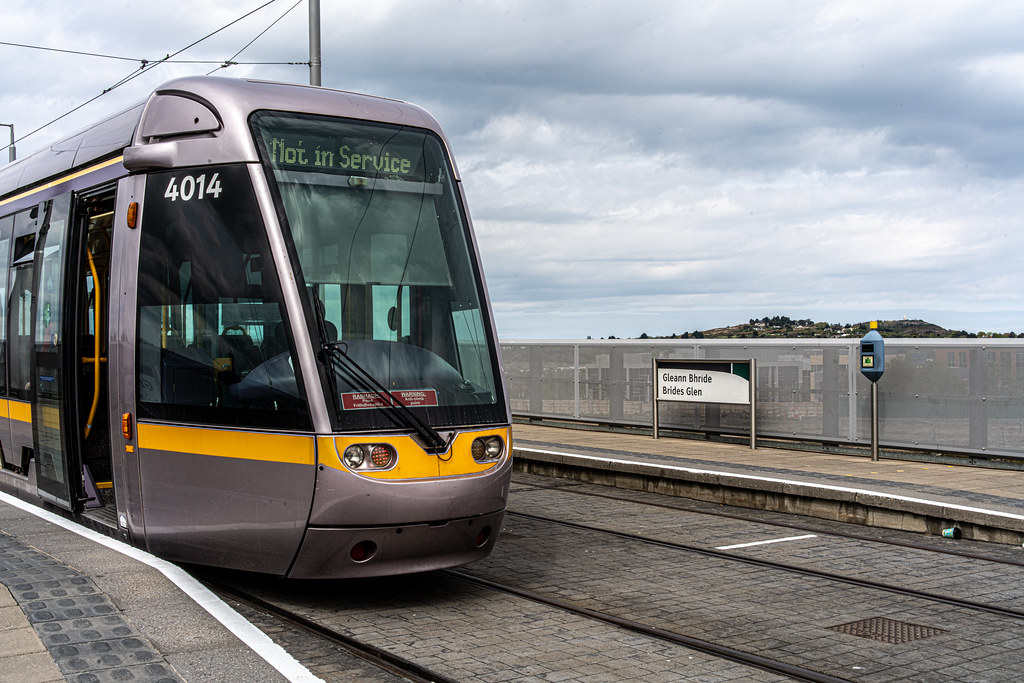 LUAS TRAM STOP AT BRIDE'S GLEN [GREEN LINE TERMINUS]-152323