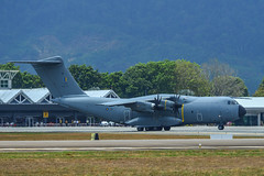 Airbus A400M aircraft of Malaysian Air Force (phuong.sg@gmail.com) Tags: defence propellers war warplane a400m aero aerospace air airbus aircraft airlifter airplane airshow armed asia asian aviation background cargo day defense engines flight forces gray heavy industry landing langkawi lima logistics malaysia military plane show soldier space takeoff taxiing technology transport transportation