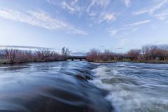 IMGP9993-Edit (Matt_Burt) Tags: bridge clouds rapids reflection spring storm sunset water