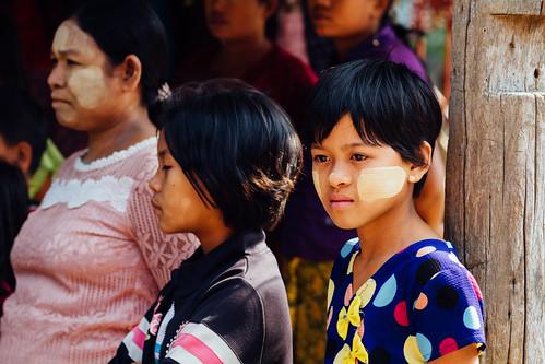 Girl Wearing Thanakha, Mandalay Myanmar