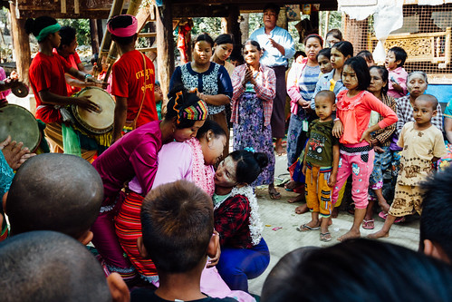 Woman Collapses in Trance, Nat Pwe Ceremony, Mandalay Myanmar