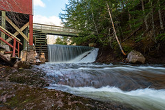 Balmoral Grist Mill Waterfall | Nova Scotia, Canada (TheNovaScotian1991) Tags: waterfall nikond3200 afsdxnikkor1855mmf3556gvrii kitlens beautiful landscape balmoralgristmill historicbuildings water river bridge rock stone boulders sky clouds stairs outdoor colchestercounty novascotia canada longexposure