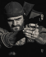 Deacon (Omegapepper) Tags: wallpaper screenarchery screenshot gametography gaming games videogame ps4 ps4share days gone apocalypse monochrome pose portrait portraitphotography closeup 4k virtual digital photography photomode