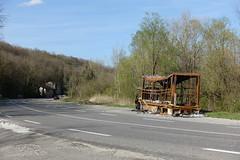 Burnt truck @ Hike to Le Vuache (*_*) Tags: randonnee nature montagne mountain hiking walk marche 2019 printemps spring april jura vuache savoie europe france hautesavoie 74 ain