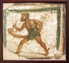 Ithyphallic Mercurius (kate223332) Tags: museum napoli italy archeology pompeii fresco wallpainting mercurius hermes amulet