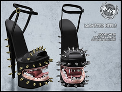 [Since1975 ]Monster heels ([ Since 1975 ]) Tags: monster heel since1975 black fair since 1975 mesh maitreya mouth shaped with teeth tooth