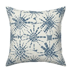 hachure shibori blue catalan throw pillow (Scrummy Things) Tags: shibori hachureshibori sharonturner illustration pattern japan japanese tiedye textile technique roostery spoonflower pillow catalan throwpillow blue