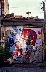 Parkdale garage) (Uta_kv) Tags: slr filmcamera fujicast801 fuji200c fujifilm fujica 35mm slrfilm 35mmcamera colorfilm toronto parkdale