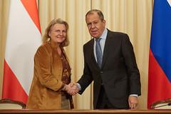 Aussenministerin Kneissl Arbeitsbesuch Moskau