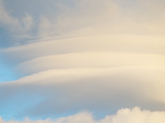 Strange lenticularis cloud formations in the Mourne Mountains - Ireland May 2019 (sean and nina) Tags: strange cloud clouds formation white blue pink sky trees mountain mourne mountains nature weather natureal storm newcastle county down ireland irish eire co may 2019 spring outdoor outside skies pile dassiettes stack plates lenticularis