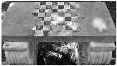 Sherwood Gardens ~ game table (karma (Karen)) Tags: baltimore maryland sherwoodgardens benches gametable stone texture htt cmwd