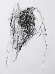 (Gasheh) Tags: art painting drawing sketch portrait woman wet hair line pen shower gasheh 2019