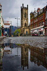 Berry Street, Liverpool (nickcoates74) Tags: liverpool stlukeschurch stluke bombedoutchurch berryst berrystreet sony a6300 ilce6300 puddle reflection water rain