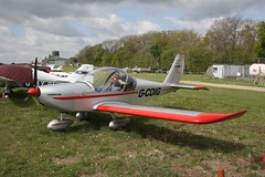 G-CDIG (IndiaEcho) Tags: gcdig ev97 eurostar eghp popham airport airfield basingstoke hampshire england light general civil aircraft aeroplane aviation canon eos 1000d microlight fly in 2019