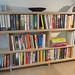 Bookcase, waiting for lights