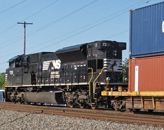 Norfolk Southern Railway # 7251 diesel locomotive (Columbus, Ohio, USA) 2 (James St. John) Tags: