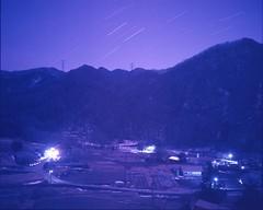 (✞bens▲n) Tags: mamiya 7ii kodak e160t 80mm f4 film analogue tungsten night longexposure stars nightscape japan yamanashi mountains