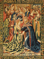 FRF101292426  01 (jrcm96) Tags: 1520 16thcentury belgian ceremony collectibles costumetextilesfans couple couples early16thcentury european europeanfurniture furnituredecorativearts group groupofpeople groups holdinghands material marriage people romance romantic royalty silk socialgathering socializing tapestries tapestry textile textiles tournai wedding weddings western wool woven