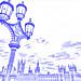 Parliament & light post (drawing filter)