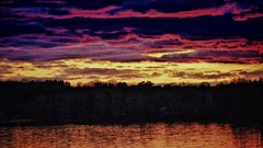 Fire in the Sky (Bob's Digital Eye 2) Tags: bobsdigitaleye2 canon canonefs55250mmf456isstm clouds dark darkness dusk laquintaessenza lake lakesunset lakesunsets lakescape landscape may2019 reflections silhouette sky skyline sunlight sunset sunsetsoverwater treeline trees yellow flicker flickr