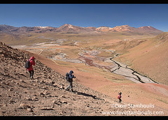 Trekking to the Rio Blanco near El Tatio Geyser, San Pedro de Atacama, Chile (jitenshaman) Tags: travel worldtravel destination destinations southamerica latinamerica chile atacama sanpedrodeatacama nortegrande desert altiplano plains mountain mountains volcano volcanoes peak landscape landscapes scenery nature outdoors natural view vista moonscape colours colors colour color arid dry deserts rocks formations valley naturallandscape naturesbeauty beautiful desolate stark tourism touristattraction desertscape eerie wilderness eltatio rioblanco geyser geysers river trek trekking trekker explore adventure hike hiking