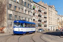 Mietskasernen auf lettisch (trainspotter64) Tags: strasenbahn streetcar tram tramway tranvia tramvaj tramwaje čkd tatra t3su lettland latvia rīga satiksme