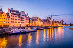 Gdansk at dusk (Vagelis Pikoulas) Tags: blue hour long exposure gdansk europe travel holidays holiday view landscape sea seascape city canon cityscape urban architecture tokina 2470mm 6d april spring 2019