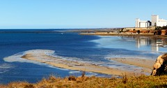 Silos, Sandbanks and Shelducks, Ardrossan, Yorke Peninsula, South Australia (Red Nomad OZ) Tags: australia southaustralia yorkepeninsula beach coast sea ocean seascape landscape outdoor water waterscape coastline shore shoreline