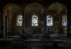 Where wealth accumulates, men decay. (Fragile Decay) Tags: eglise church window decay fragiledecay forgotten forbidden lost empty abandoned