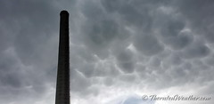 May 7, 2019 - Mammatus clouds over a smoke stack in north Denver. (ThorntonWeather.com)