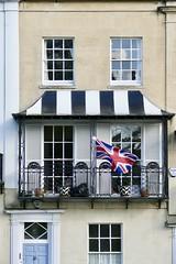 Georgian terrace house in Clifton (d0gwalker) Tags: bristol clifton sionhill georgian balcony terrace wroughtiron unionjack unionflag flag candystripe