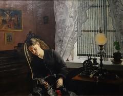 The seamstress (Bosc d'Anjou) Tags: sweden göteborg gothenburg göteborgskonstmuseum gkm christiankrohg seamstress syerske realism workingwomen sleeping tired