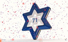 Independence Day 71 (u.benny) Tags: 3d art artwork c4d cinema4d hdr photoshop render texture wallpaper abstract angel award blue button celebration confetti congratulations decoration design desktop flag font gold graphic icon illustration image independence isolated israel logo metal number pattern purple red sapphire shape shiny sign sprinkles star state symbol vector white yellow