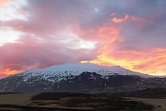 ICELAND - Sunset on Snaeffellsjökull - Snaeffells Glacier (mda'skaly) Tags: glacier snaeffellsjökull moutain snaeffellsnes peninsula sunset iceland colour light