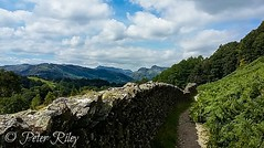 View from Langdale Pike, The Lake District. (peterileypics) Tags: walking lightroom light sky clouds scenery outdoors lakedistrict mountain hiking wall tree nature landscape