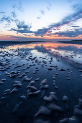 Sunset in the Netherlands (Fab Boone Photo) Tags: sunset coucher de soleil coucherdesoleil rouge couleurs bleu mer sea zee holland netherlands brussel belgium fab boone photo fabienboone fabboonephoto nature seascape colors sky dramatic mood moody blue orange red