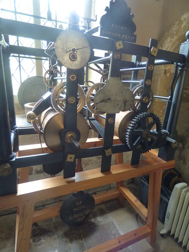 Canons Ashby House - Great Kitchen - The Clock from St Peter's Church Eaton Square, London