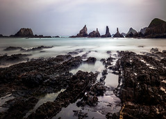 Solemn (tommy1905195) Tags: ifttt 500px rugged rocks sea seascape coast travel water solemn lost alien landscape cudillero asturias spain overcast sky no person gueirua beach