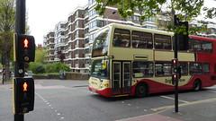 Brighton & Hove Bus 634 in Hove. (ManOfYorkshire) Tags: dorothystringer brightonhove bus hove scania omnidekka eastlancs route21a goldstonevalley 9000cc diesel engine yn04gkg 634 pedestrianlightcontrolledcrossing flats