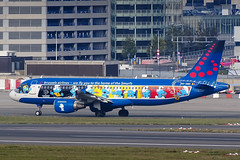 Brussels Airlines - Airbus A320 [OO-SND] 'The Smurfs' at Brussels Airport - 28/10/18 (David Siedler) Tags: brussels busselsairlines airbus airbusa320 a320 oosnd belgianicons thesmurfs smurfs schlümpfe brusselsairport bruebbr