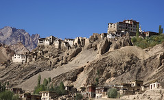monastery in Ladakh (Rajiv Lather) Tags: himalayas mountains ladakh jk india indian buddhism monastery monks image photograph photo buddha mantras canon camera jammukashmir colddesert rugged landscape pic hilltop travel tourism trip gompa desolate dry chanting fourfoldpath nirvana dalailama ommanipadmehum
