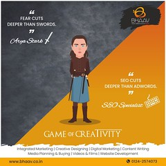 The little Stark assassin (bhaavfromwithin) Tags: arya stark seo specialist game thrones creatives creativity creative bhaav branding