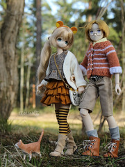 Walking my bear (BblinkK) Tags: pureneemo azone miu hetalia canada doll
