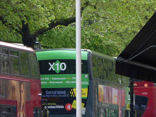 The X10 NXWM Platinum bus on Colmore Row