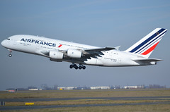 F-HPJG, Airbus A380-861, c/n 067, Air France, CDG/LFPG 2019-02-17, off runway 27L. (alaindurandpatrick) Tags: fhpjg cn067 aq380 a388 a380800 airbus airbusa380 airbusa380800 megabus jetliners airliners af afr airfrance airlines cdg lfpg parisroissycdg airports aviationphotography